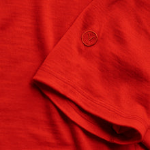 Load image into Gallery viewer, Vulpine Merino Crew Tee - Atomic Red
