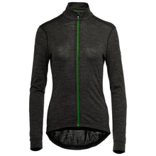 Load image into Gallery viewer, Vulpine Alpine Merino Blend Long Sleeve Jersey - Charcoal Melange/Vulpine Green