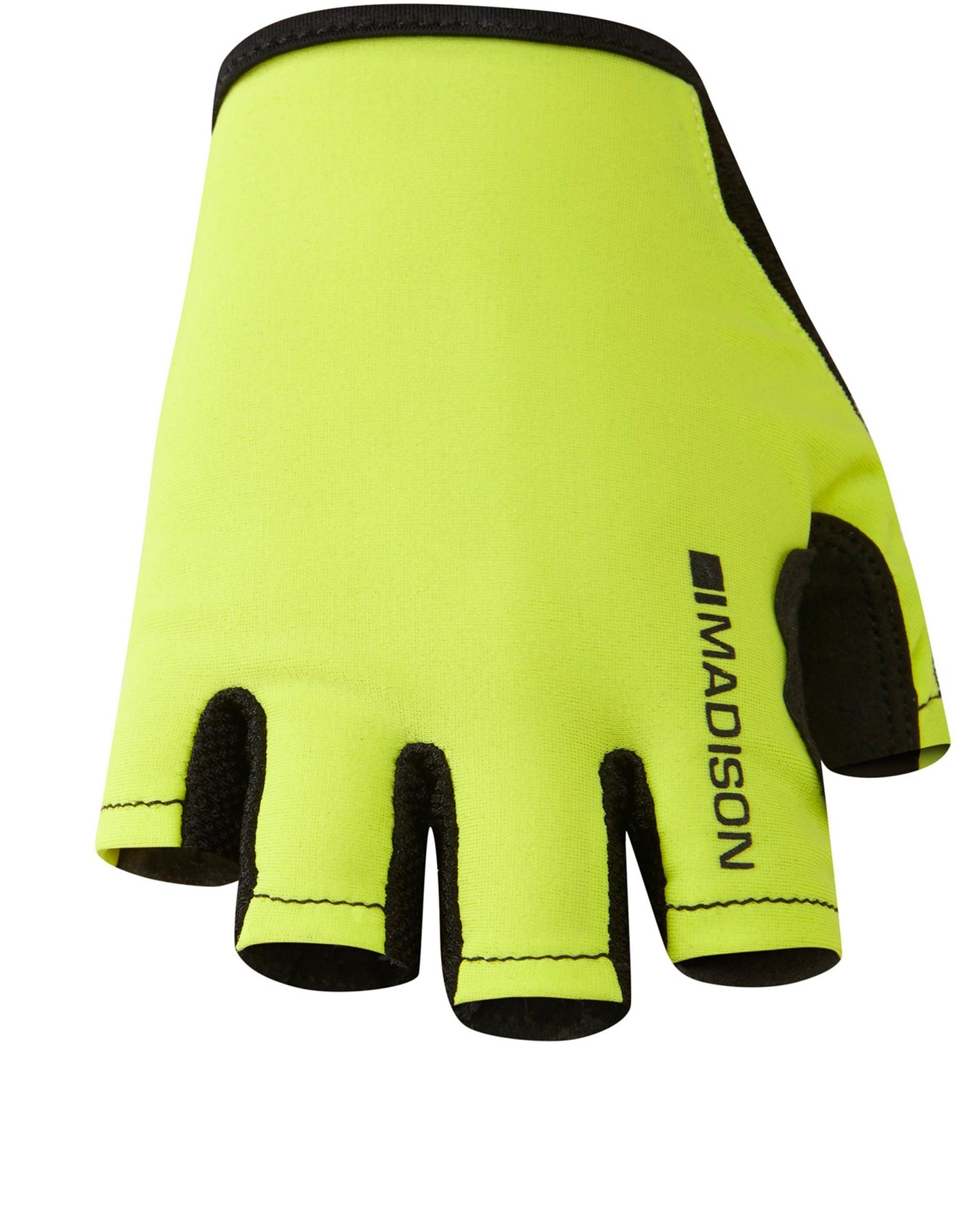 Madison Track women's mitts, hi-viz yellow | VeloVixen