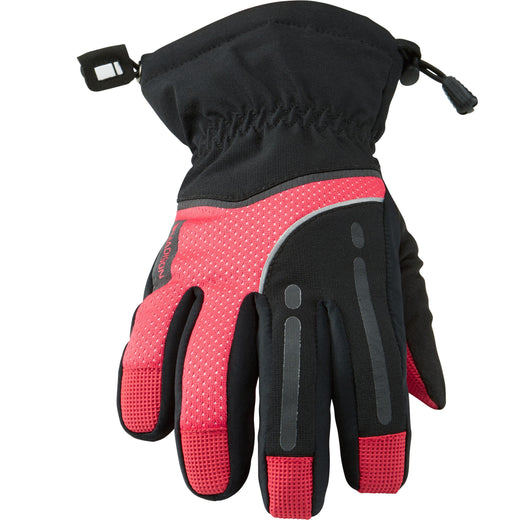 Madison Stellar women's waterproof gloves, black / diva pink | VeloVixen