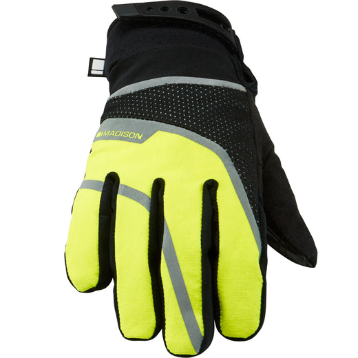 Madison Avalanche women's waterproof gloves, black / hi-viz yellow | VeloVixen
