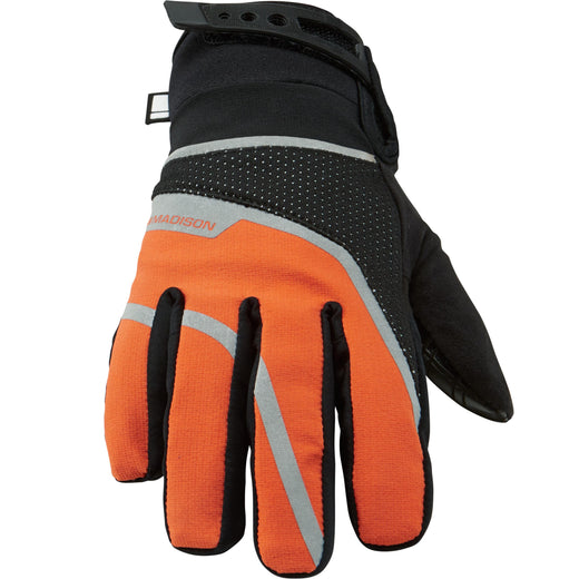 Madison Avalanche women's waterproof gloves, black / shocking orange | VeloVixen