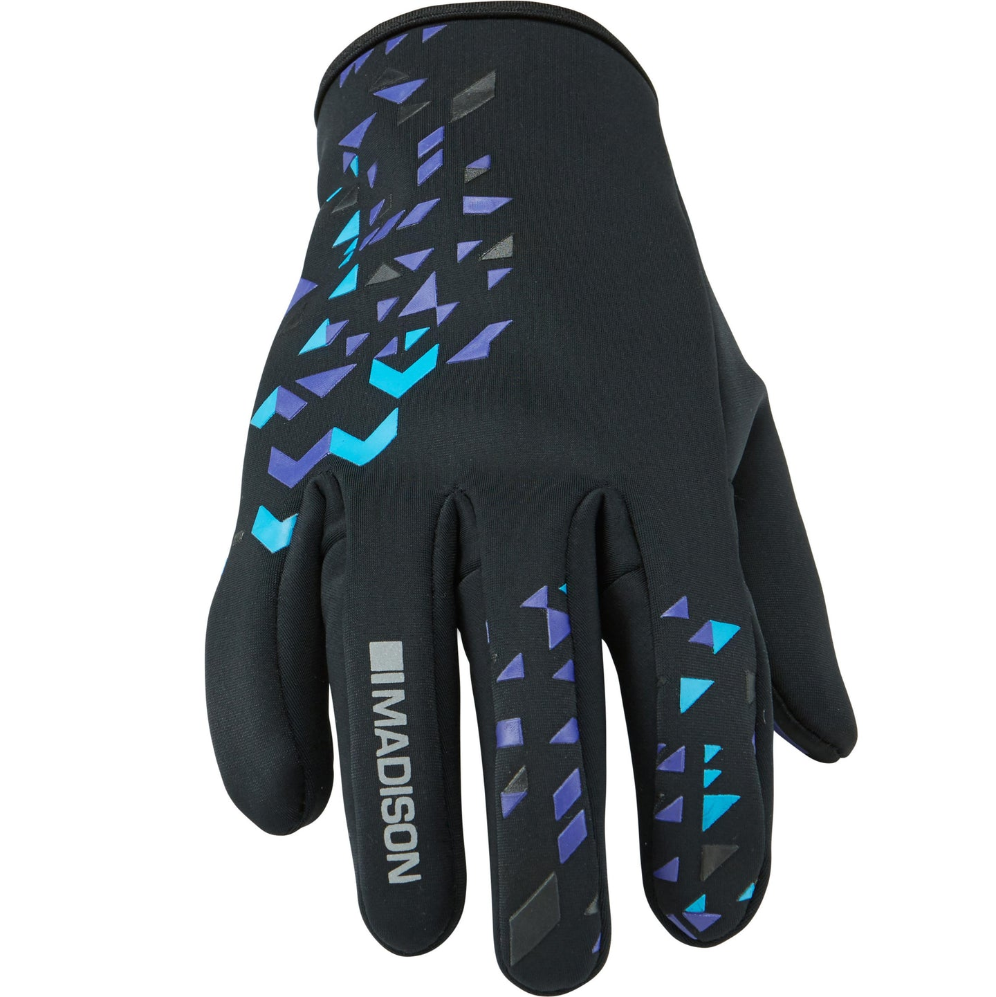 Madison Element Softshell Gloves - Black/Purple Reign | VeloVixen
