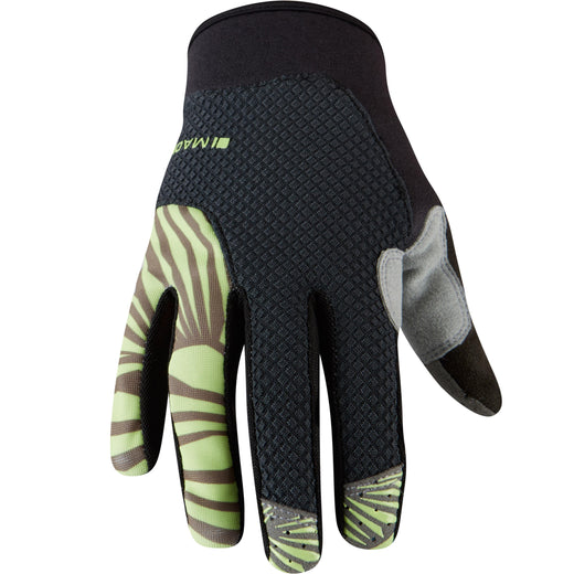 Madison Flux women's gloves, phantom / sharp green | VeloVixen