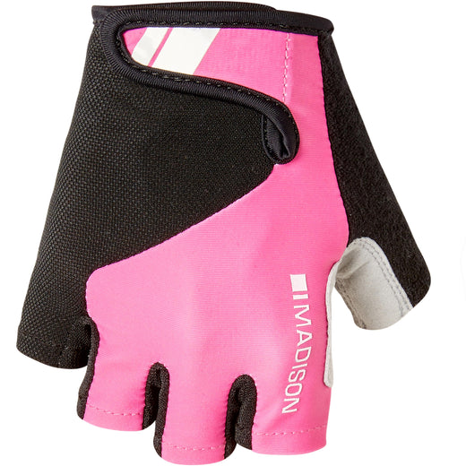 Madison Keirin women's mitts, pink glo | VeloVixen