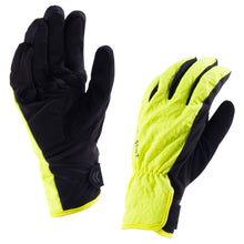 Load image into Gallery viewer, Sealskinz All Weather Gloves - Black/Hi-Vis Yellow