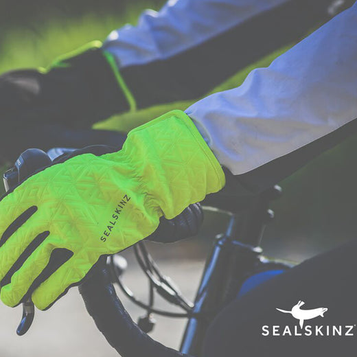 Sealskinz All Weather Gloves - Black/Hi-Vis Yellow