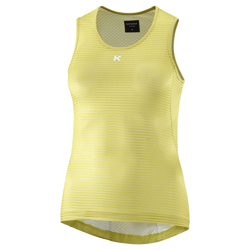 Katusha Allure Sleeveless Baselayer - Celery | VeloVixen