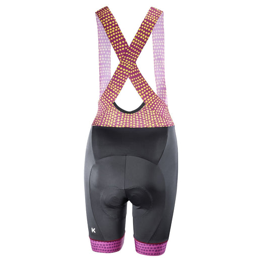 Katusha Allure Bib Shorts - Black Native Anemone