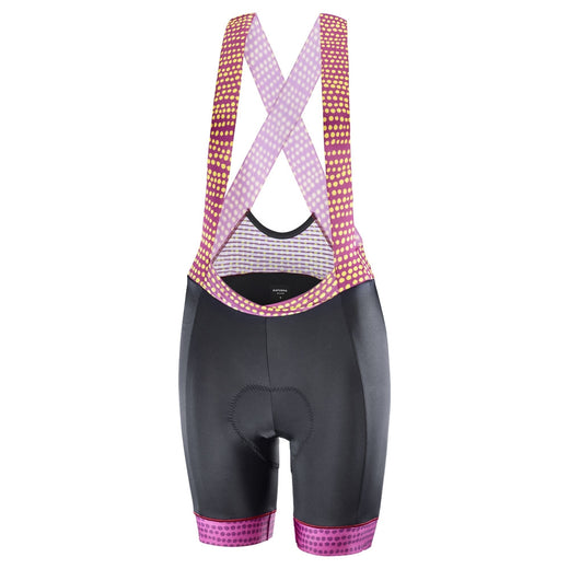 Katusha Allure Bib Shorts - Black Native Anemone | VeloVixen