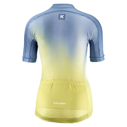 Katusha pale blue yellow 2019 womens cycling top