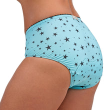 Load image into Gallery viewer, VeloVixen Padded Cycling Knickers - Teal Stars