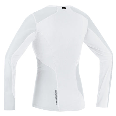 Gore M GORE® WINDSTOPPER® Base Layer Long Sleeve Shirt - Light Grey/White