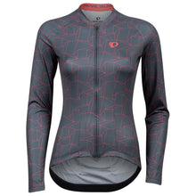 Load image into Gallery viewer, Pearl Izumi Attack Long Sleeve Jersey - Turbulence/Atomic Red Origami | VeloVixen