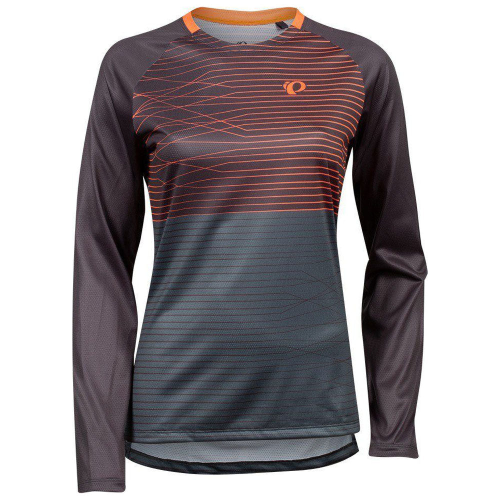 Pearl Izumi Summit Long Sleeve Jersey - Phantom/Fiery Coral Frequency | VeloVixen