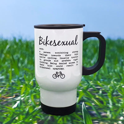 Worry Less Design Bikesexual Travel Mug