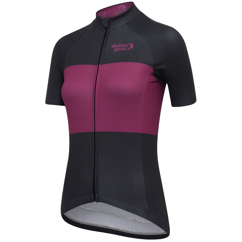 Stolen Goat Blockhead Cycling Jersey - black and purple