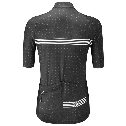 Chapeau Madeleine womens cycling jersey polka dot stripes