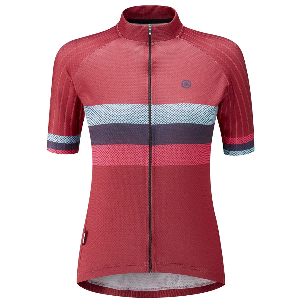 Chapeau! Club Stripe Jersey - Devon Red | VeloVixen