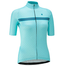 Load image into Gallery viewer, Chapeau! Madeleine Polka Stripe Jersey - Aqua