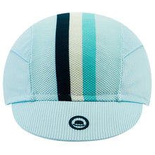 Load image into Gallery viewer, Chapeau! Lightweight Cap Club Stripe - Aqua | VeloVixen