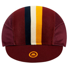 Load image into Gallery viewer, Chapeau! Lightweight Cap Club Stripe - Aubergine | VeloVixen