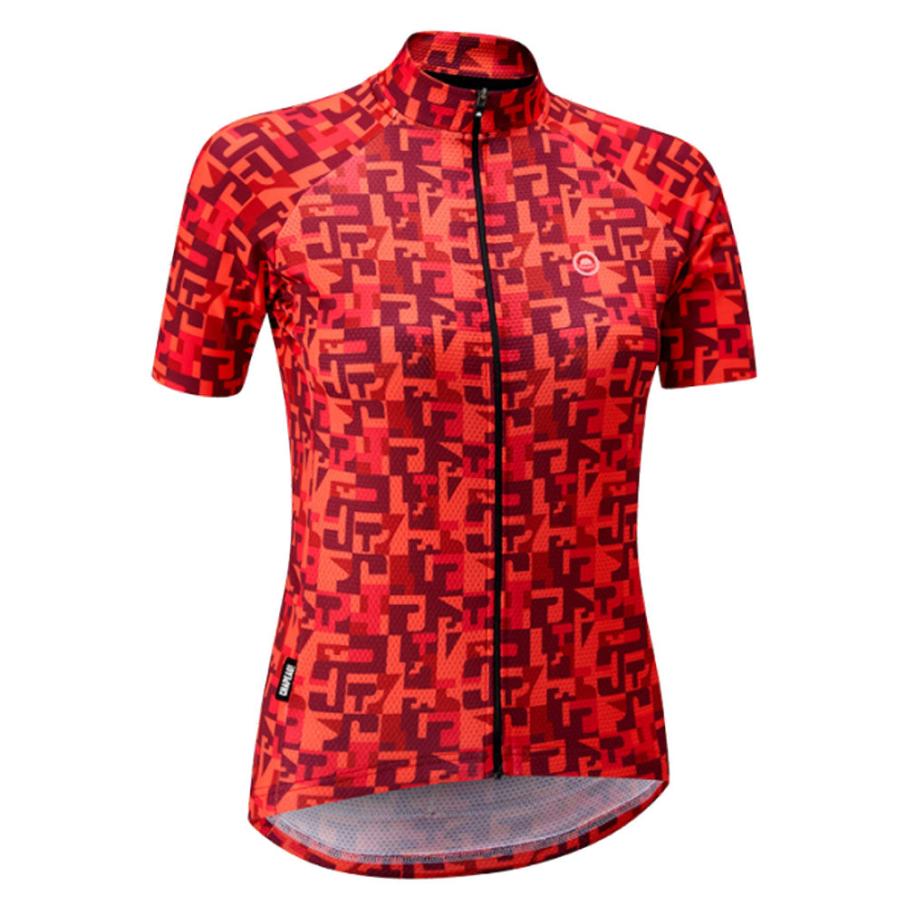 Chapeau! Ladies Club Jersey Pattern - Hot Coral | VeloVixen