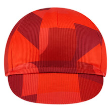 Load image into Gallery viewer, Chapeau! Lightweight Cycling Cap Club Pro Pattern - Devon Red | VeloVixen