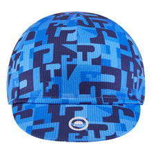 Load image into Gallery viewer, Chapeau! Lightweight Cycling Cap Club Pattern - Cerulean Blue | VeloVixen