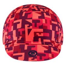 Load image into Gallery viewer, Chapeau! Lightweight Cycling Cap Club Pro Pattern - Hot Coral | VeloVixen