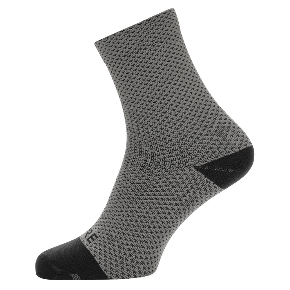 Gore C3 Dot Mid Socks - Graphite Grey/Black | VeloVixen