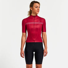 Load image into Gallery viewer, Chapeau! Madeleine Polka Stripe Jersey - Devon Red