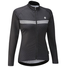 Load image into Gallery viewer, Chapeau! Madeleine Polka Stripe Thermal Jersey - Black