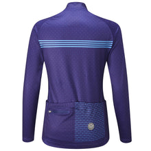 Load image into Gallery viewer, Chapeau! Madeleine Polka Stripe Thermal Jersey - Indigo