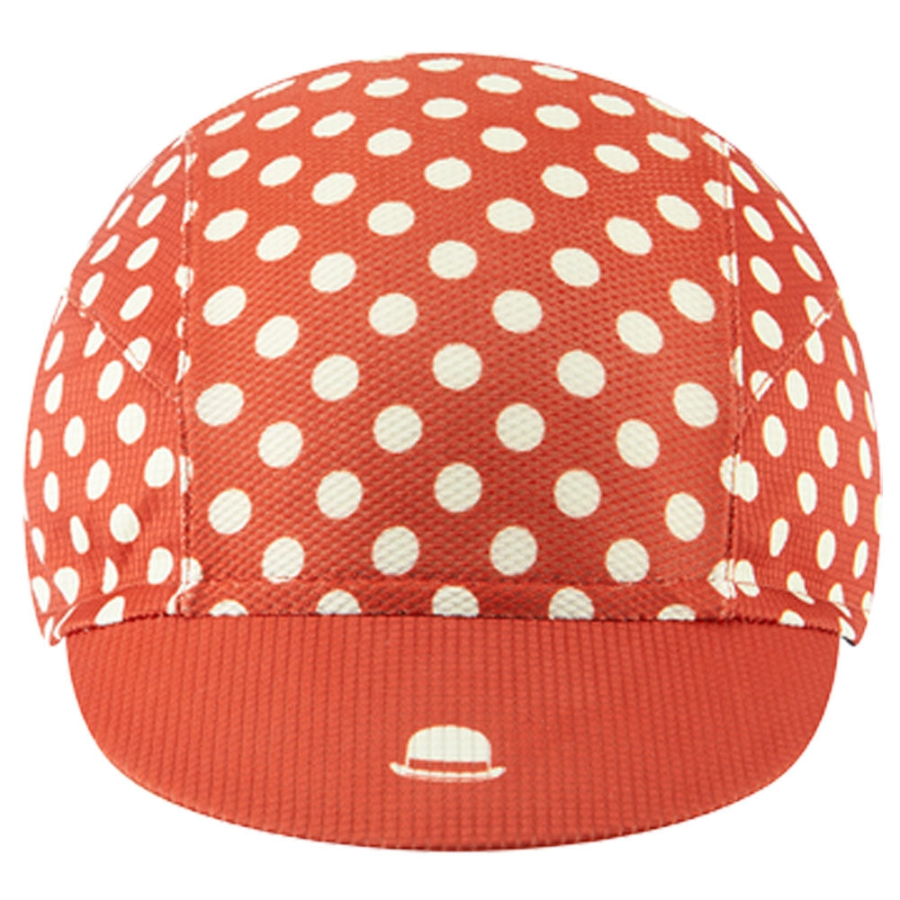 Chapeau! Lightweight Cap Polka Dot - Devon Red | VeloVixen