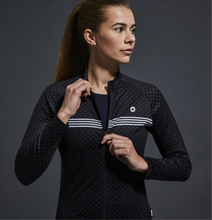 Load image into Gallery viewer, Chapeau! Madeleine Polka Stripe Jersey - Rich Black