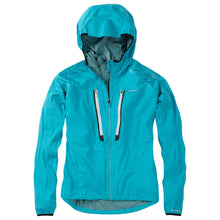 Load image into Gallery viewer, Madison Flux super light women's waterproof softshell jacket, caribbean blue | VeloVixen