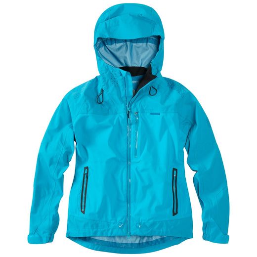Madison DTE women's waterproof jacket, caribbean blue | VeloVixen