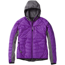 Load image into Gallery viewer, Madison DTE women's hybrid jacket, imperial purple | VeloVixen
