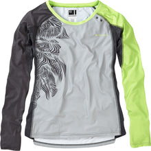 Load image into Gallery viewer, Madison Flux Enduro Women's Long Sleeve Jersey - Silver Grey/Sharp Green