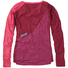 Load image into Gallery viewer, Madison Flux Enduro Women's Long Sleeve Jersey - Malbec Red/Classy Burgundy