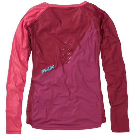Madison Flux Enduro Women's Long Sleeve Jersey - Malbec Red/Classy Burgundy