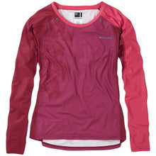 Load image into Gallery viewer, Madison Flux Enduro women's long sleeve jersey, malbec red / classy burgundy | VeloVixen