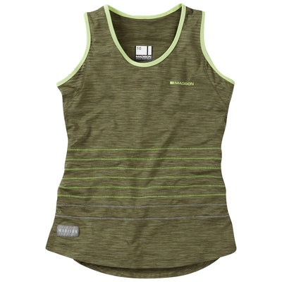 Madison Leia Sleeveless Jersey - Olive Green
