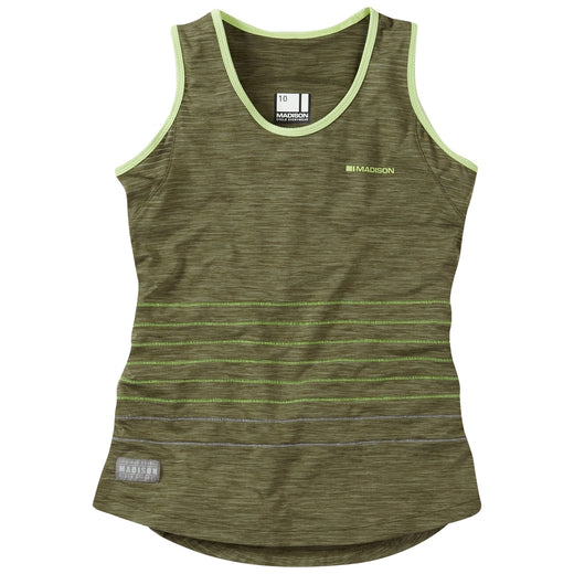 Madison Leia women's sleeveless jersey, olive green | VeloVixen