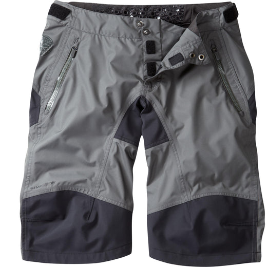 Madison DTE women's waterproof shorts, dark shadow | VeloVixen
