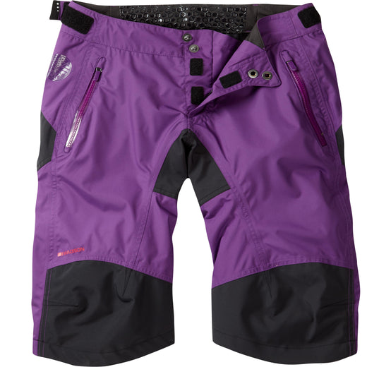Madison DTE women's waterproof shorts, imperial purple | VeloVixen