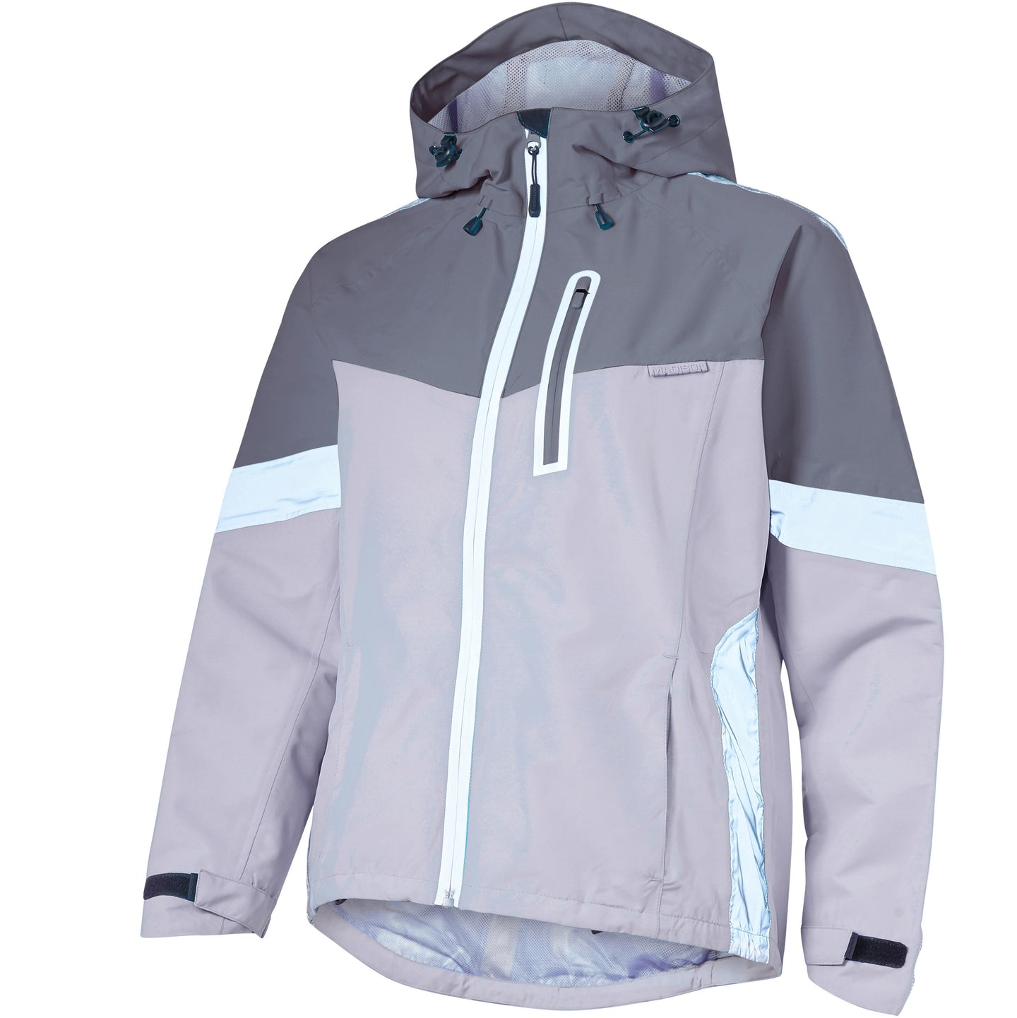 Madison Prima women's waterproof jacket, cloud grey / dark shadow | VeloVixen