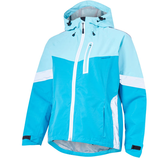 Madison Prima women's waterproof jacket, radiant blue / caribbean blue | VeloVixen