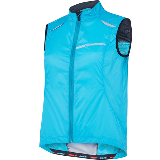 Madison Sportive women's windproof gilet, blue curaco | VeloVixen
